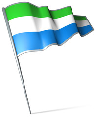 Flag pin - Sierra Leone