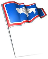 Flag pin - Wyoming (USA)