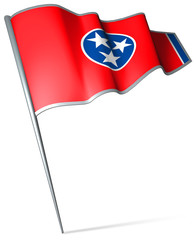 Flag pin - Tennessee (USA)