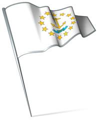 Flag pin - Rhode Island (USA)