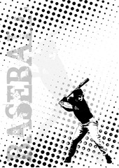 baseball dots poster background