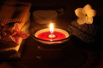 décor pour un massage nocturne