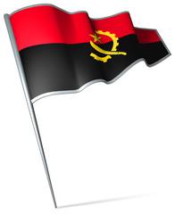 Flag pin - Angola