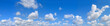 Leinwanddruck Bild - big panorama. landscape blue sky