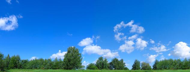 big panorama. landscape rural land