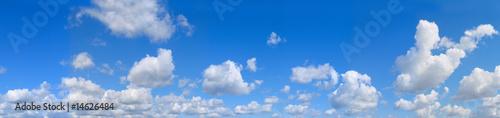 Leinwandbild Motiv big panorama. landscape blue sky