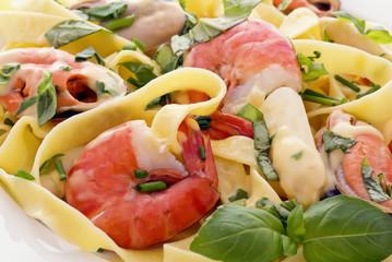 Nudeln mit Meeresfrüchten