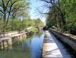 Leinwanddruck Bild - Jakobsweg: Kanalbrücke bei Röthenbach
