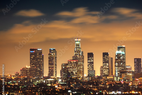Poster Los Angeles Downtown Los Angeles skyline