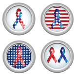 USA Stars and Stripes Buttons Fourth of July poster