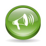 Megaphone Sign 3D Icon