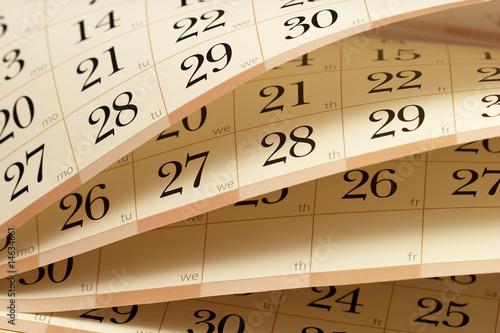 Leinwanddruck Bild calendar