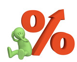 Increase of the interest rate under credits poster