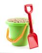 Leinwanddruck Bild - bucket and spade