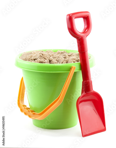 Leinwanddruck Bild bucket and spade