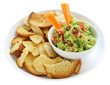 Guacamole with Bagel Crisps