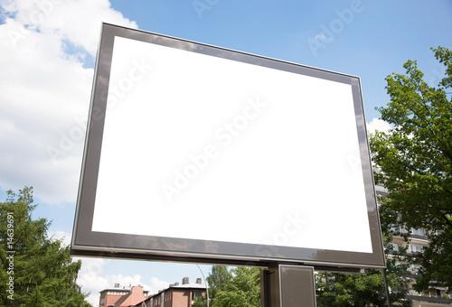 Leinwandbild Motiv Plakatfläche am Straßenrand