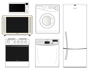 Household appliances.