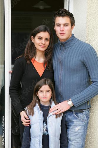 couple avec enfant de auremar photo libre de droits 14644060 sur. Black Bedroom Furniture Sets. Home Design Ideas