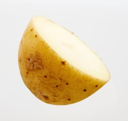 Halved potato