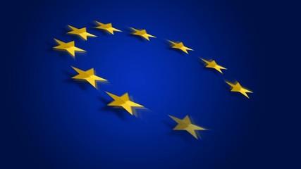 Animation etoiles europe fond bleu
