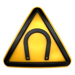 Magnetic hazard sign
