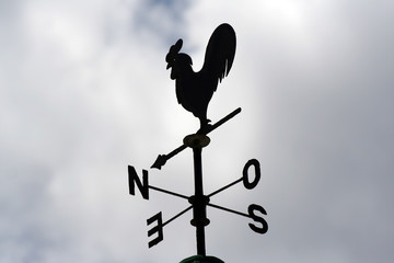 gallo veleta puntos cardinales direccion viento