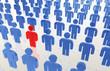 Business - Menschen in einer Reihe, Konkurenten