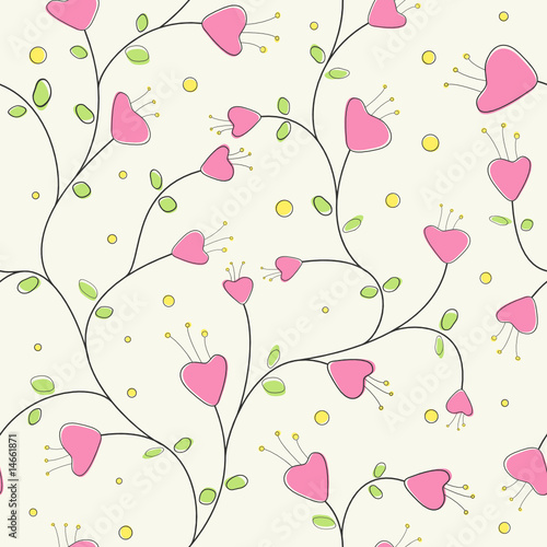 wallpaper vector flower. vector seamless cute flowers