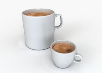 Due tazze di caffè