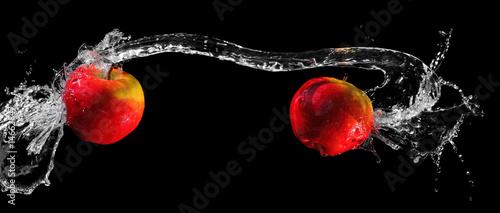 Apples in water swirl