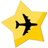 icon e-commerce, plane poster
