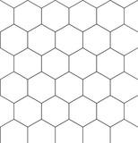 Seamless hexagonal pattern 01 poster