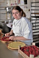 garnissage des tarte aux la fraises