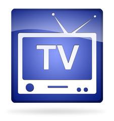 icona tv blu