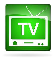 icona tv verde