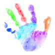 baby left handprint