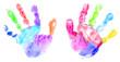 Multicolor baby handprint