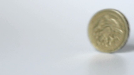 British pound coin rolling