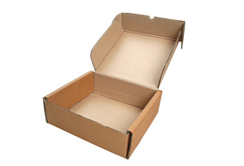 Close-up cardboard box.