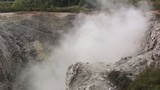 Geothermal Steam Rising from Volcano Type Mound poster