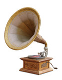 gramophone with clipping path