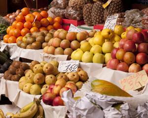 Obststand auf dem Markt