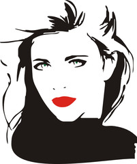 Vector Feminino - Woman Vector - Face