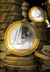 Euro coins concept