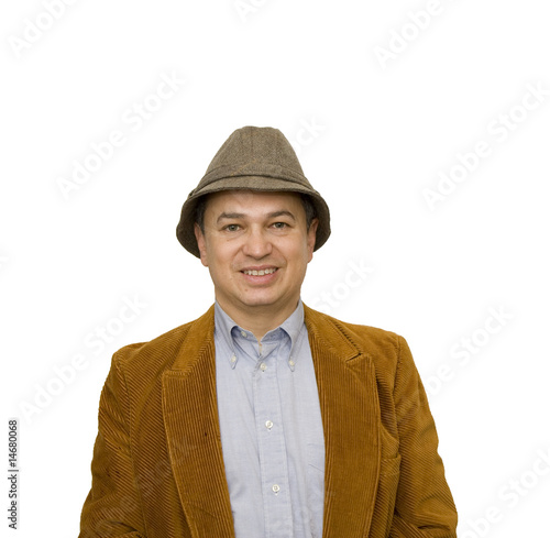 Man in Jacket and Blue Shirt Smiling