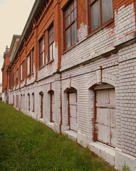 vieille fabrique en briques rouges