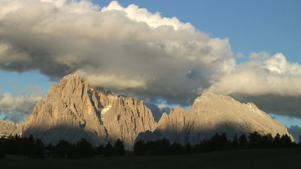 Panorama in den den Dolomiten