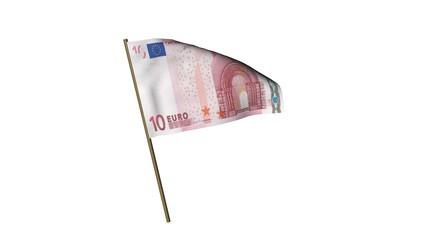 Fahne 10 Euro