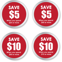 Sale Stickers - Save Money